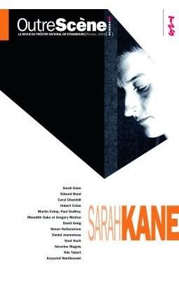Couverture du Livre avec Sarah Kane de profil en noir et blanc.